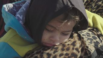 Iraq - Exhausted Children from Mosul - BROLL