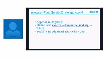 Webinar (07MAR17) UNICEF Innovation Gender Challenge