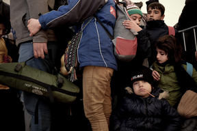 Refugees and migrants at the processing centre in Preševo – Serbia – 2015