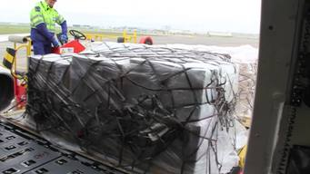 Airport Loading of emergency supplies for Nepal ROUGH CUT