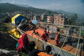 Earthquake-affected people in Dolakha District – Nepal – 2015