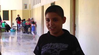 12323 Palestine school shelters in Gaza BROLL SELECT HD PAL
