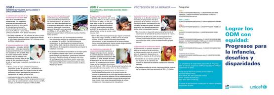 Achieving the MDGs with Equity, Pamphlet, Lo-Res PDF (Spanish)