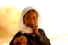 Internally diaplced girl at a UNICEF supported camp in Jorbuki locality in North Darfur