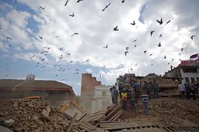 Earthquake-affected people in Nepal – 2015