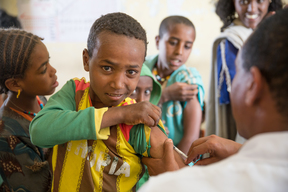 Measles and scabies response in drought-affected areas