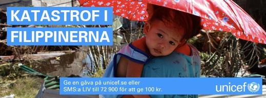 Typhoon Haiyan: Swedish NatCom - social media banner - Facebook timeline