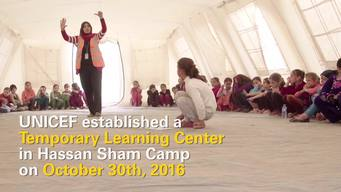Learning space for children displaced from Mosul - INT